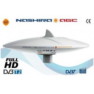 NASHIRA - V9112/12 - Antenna TV Terrestre omnidirezionale con amplificatore bypass